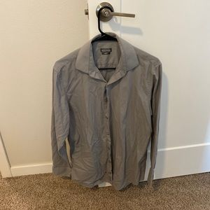 Kenneth Cole Reaction Shirts - Kenneth Cole Reaction slim fit gray button up